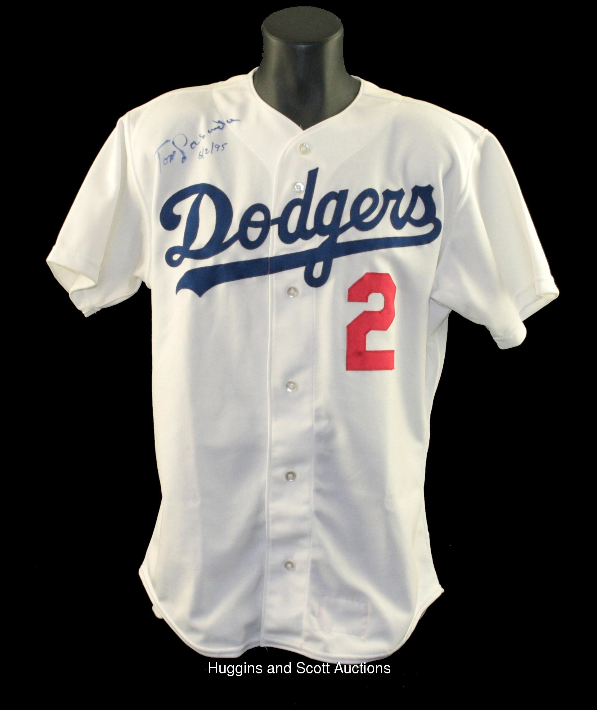 Tommy Lasorda 1994 Signed Game-Worn Los Angeles Dodgers Home Jersey 3174a722b66