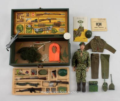 Cargo Trailer Accessories >> 1964-1965 G.I. Joe Collectibles With Loaded Foot Locker and Combat Jeep